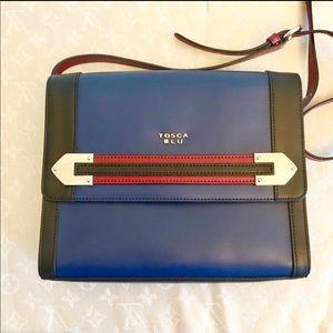 TOSCA BLU Italian Leather Crossbody Satchel
